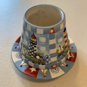 Yankee Candle Candle Topper Shade & Plate